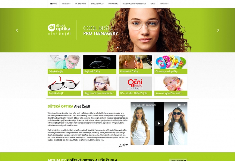 A new website for the Optical store for childs